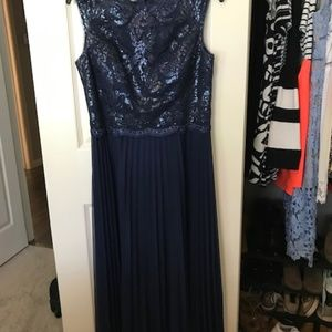 Dillards Navy Formal Dress